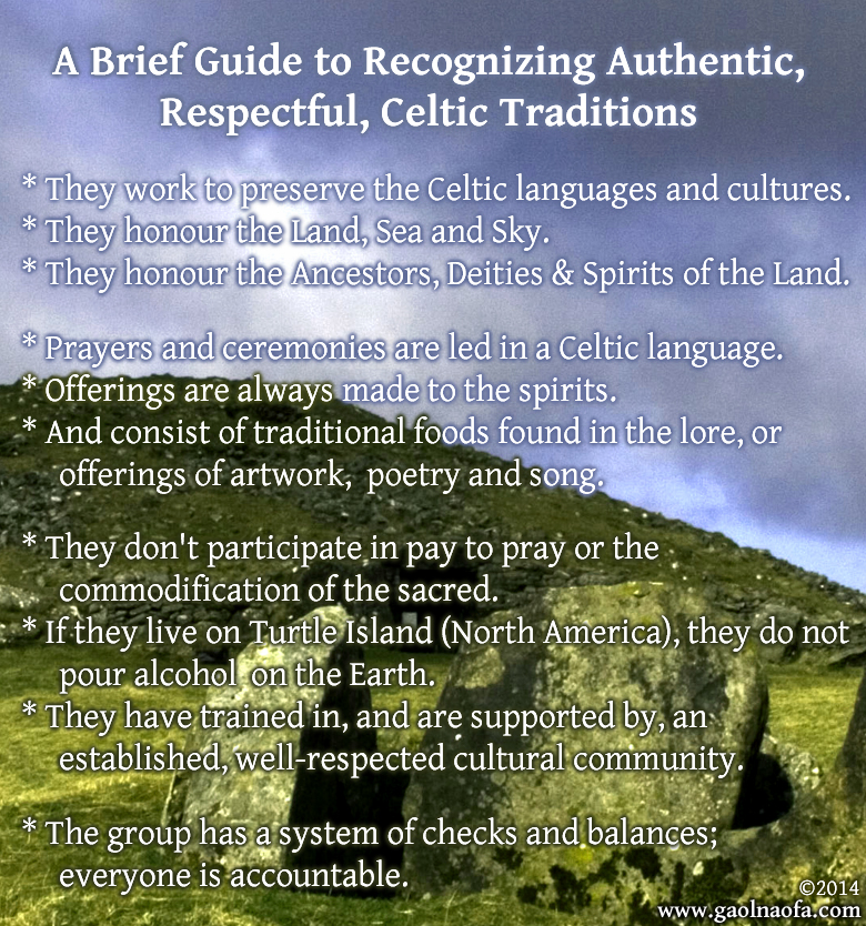 Recognizing Authentic Celtic Traditions Image Version