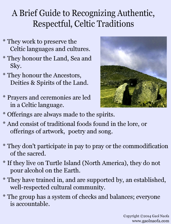 Recognizing Authentic Celtic Traditions Mostly Text